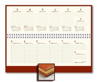 Планинг 33х15 Credo, датированный, тонированный, золотой обрез