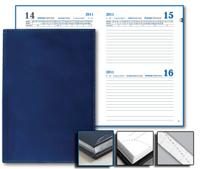 Ежедневник Favorite 15х21 Sinergy датированый, серебряный обрез, синий