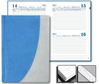 Ежедневник Tandem 15x21 Sinergy датированый голубой/серый