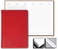 Ежедневник Optima 15x21 Credo недатированный красный