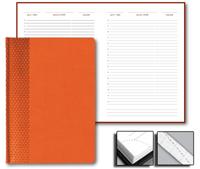 Ежедневник Prizma 15x21 Credo недатированный оранжевый