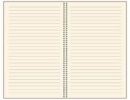 Записная книжка 9x13 см Freenote в линейку, на пружине, тонированная