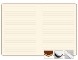 Записная книжка 9x13 см Freenote в линейку, тон., золотой обрез