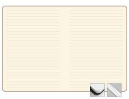 Записная книжка 9x13 см Freenote в линейку, тон.