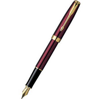 Parker Sonnet F539 ESSENTIAL LaqRed GT ���� ������ 18Ct F, M