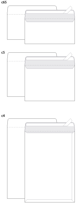 Схемы популярных моделей фирменных конвертов.
